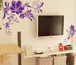 stylish wall art ideas for bedroom bedroom wall art design flower sticker decals tv background decor