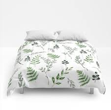 leaf comforter leaf bedding green