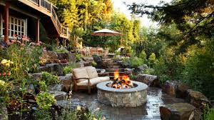 Stone Patio Designs With Fire Pit patio ideas stone patio fire pit
