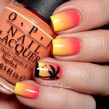 Digit-al Dozen DOES Summer - Tropical Sunset   Silhouette nails ...