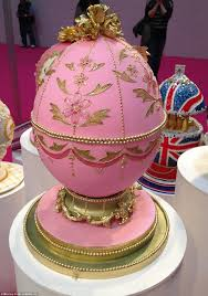 Egg Surprise Cake Design Bakers Create Jewelled Faberges Eggs Made Entirely Out Of