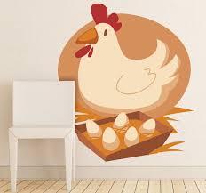 kids hen eggs wall sticker on chicken wall art uk with kids hen eggs wall sticker tenstickers