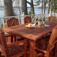 redwood patio table custom made