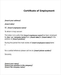 Employment Certificate Request My College Scout