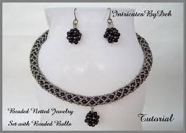 Beading Patterns For Beginners Extraordinary Tutorial Beaded Netted Rope Necklace Earring Jewelry Set Etsy