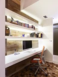 home office wall shelves. Ideas, Neutral Home Office Ideas Decor With Wooden White Flat Book Regarding Proportions 966 X. Design Wall Shelves S
