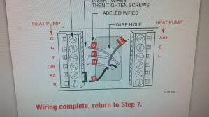 honeywell thermostat 4 wire diagram honeywell auto wiring help getting heat pump working on new honeywell rth7500 thermostat on honeywell thermostat 4 wire diagram