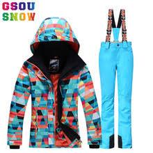 Gsou Snow Brand Лыжный Костюм <b>Женский Outdoor</b> Зимняя ...