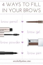 brow basics 4 diffe ways to fill them in