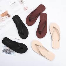<b>Unisex Casual</b> Slip-on Flip Flops <b>35-44</b> Black Brown   Shopee ...