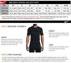 Nike Dri Fit Jersey Size Chart 20 Efficient Nike Dri Fit Shirt Sizing Chart