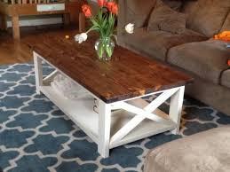rustic x coffee table farmhouse style