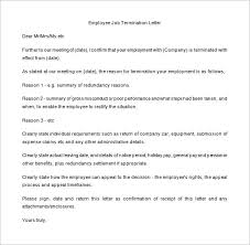 Sample Cobra Termination Letter 15 Job Termination Letter Templates Free Sample Example