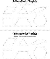 Pattern Block Template Delectable 44 Pattern Block Templates Free Download
