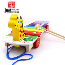 2019 Tour 1 2 3 Year Old Baby Educational Toys Xylophone Hand Knocking Piano Child Drag Knock Toy Musical Instruments From Shunv900416,
