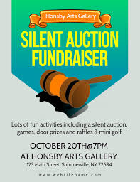 Fundraising Flyer Ideas Auction Fundraiser Flyer Template Postermywall