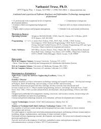 Resume Templates For Engineers Simple Software Engineer Resume Musiccityspiritsandcocktail