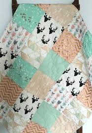 mint and c baby bedding pink quilt gold crib woodland girl nursery sparkle room grey mint and c baby bedding