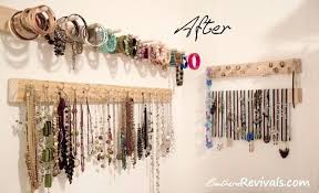 jewelry hanging organizer diy built in southern revivals