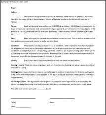 et purchase letter of intent the