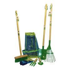 8pc long tools childrens gardening tool set