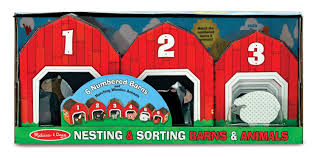 amazon melissa doug nesting and sorting barns and s with 6 numbered barnatching wooden s melissa doug toys games