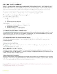 Free Blank Resume Templates For Microsoft Word Best Of Free