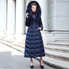 ankle length down coat