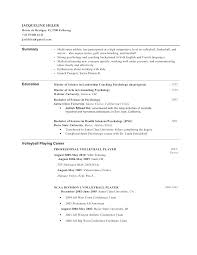 Sample Coach Resume Directory Resume