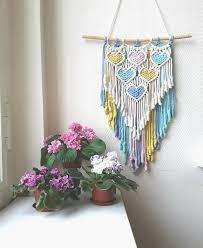 Панно макраме | Valentines <b>diy</b>, <b>Macrame</b> wall hanging, Craft projects