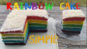 Lestari kitchen 11 months ago. Resep Rainbow Cake Simple Tanpa Santan Youtube