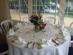 banqueting linen eight round tablecloths for 5ft tables