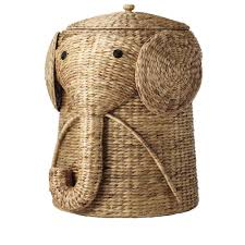 classy vintage Home Decorators Collection 18 inch Winsome Animal Laundry  Hamper in cute elephant wicker hamper
