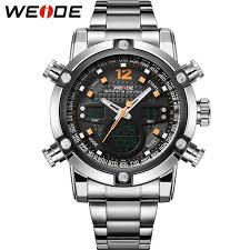 online buy whole mens sport watches waterproof from mens fashion sport watches men stainless steel band waterproof analog digit display quartz big dial clock