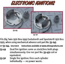 single fire ignition electrical components ultima single fire electronic ignition advance unit shovelhead harley