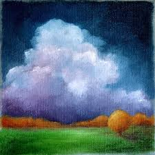 original oil painting landscape dark sky by stormscapestudio