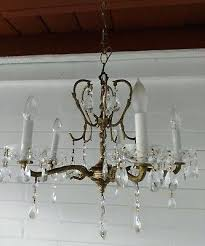 5 arm brass chandelier ornate vintage 5 arm solid brass chandelier lots of crystals antique brass 5 arm brass chandelier
