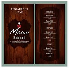free food menu templates vintage restaurant menu templates vectors 275440468564 free food
