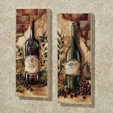 Wine Decor For Kitchen Wine Cellar 2 Piece Canvas Art Set Decor Wine Cellar And Dining