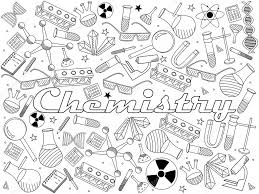 Small Picture Chemistry coloring book vector illustration Stock Vector
