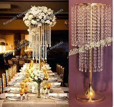 free wedding crystal table centerpiece gold flower stand chandelier centerpieces candelabra whole