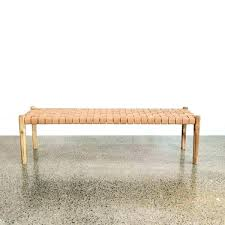 tan leather bench tan leather h weave l modern seat large antique or stool null tan tan leather bench