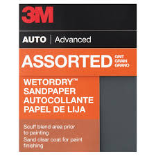 Automotive Sandpaper Grit Chart 3m Wetordry Sandpaper 03006 Assorted Fine Grits 3 2 3 Inch X 9 Inch 5 Pack
