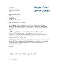 Cover Letter Outlines Under Fontanacountryinn Com