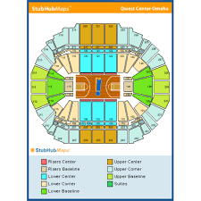 Chi Health Center Seating Chart Clean Centurylink Center Omaha Seating Map Centurylink