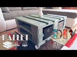 diy vintage style pallet coffee table