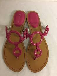 calvin klein patent leather flip flops