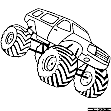 Monster Truck Coloring Pages Letscoloringpagescom Bigfoot Free