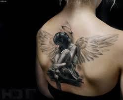 тату ангел 100 самых ярких идей и вариантов со значением на фото