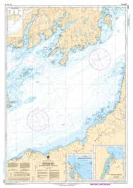 Ontario Nautical Charts Fortune Bay Souther Portion Partie Sud By Canadian